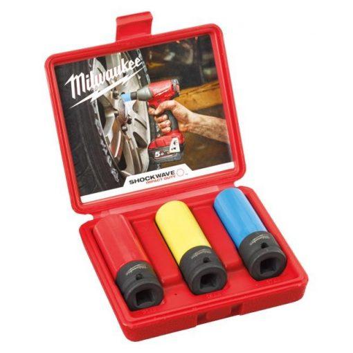 """Milwaukee dugókulcs készlet 1/2"""" - 3 részes"""