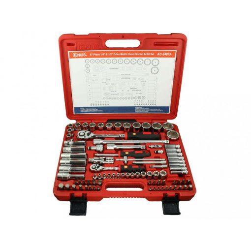 Genius Tools dugókulcs készlet - 87 darabos